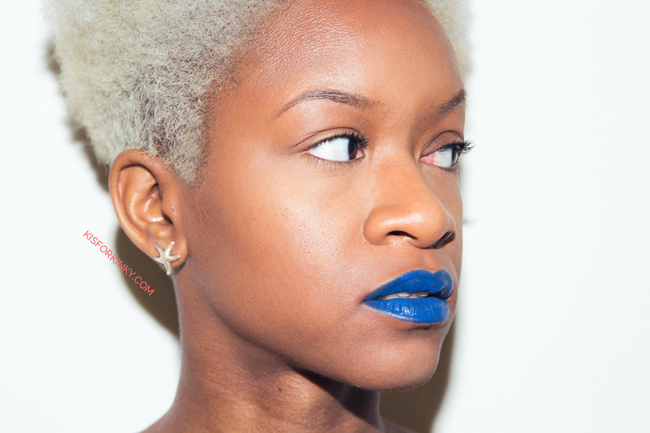 blue lipstick on dark skin by k is for kinky 2 rev