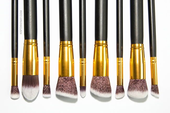 quality affordable makeup brush set k is for kinky 1