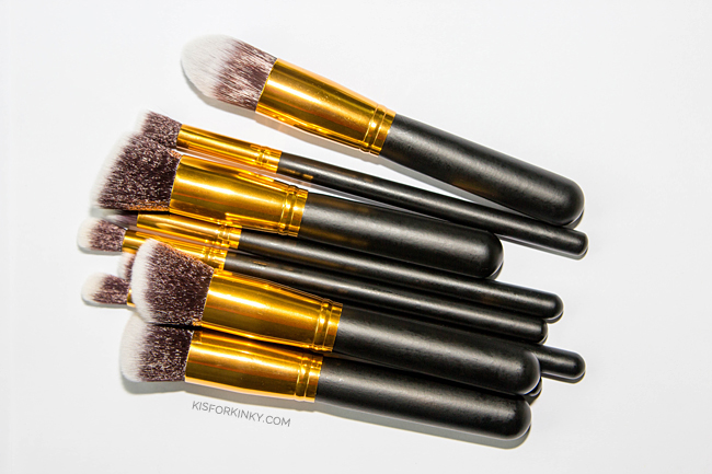 quality affordable makeup brush set k is for kinky 4